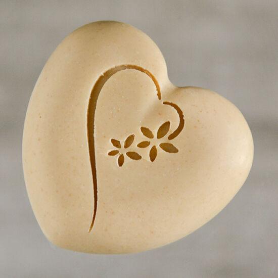 Szív alakú kecsketejes natúr szappan