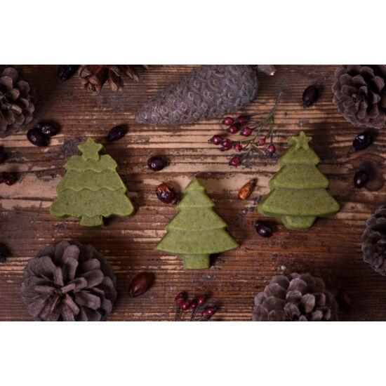 Fenyő alakú kecsketejes zöldalgás szappanka karácsonyi illattal